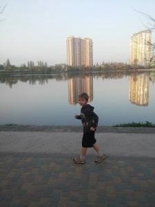 фото в 6 утра - бег с детьми
